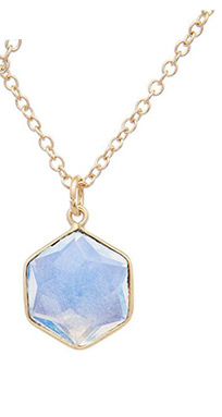 Geometric Moonstone Necklace