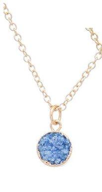 Sapphire Blue Druzy Necklace