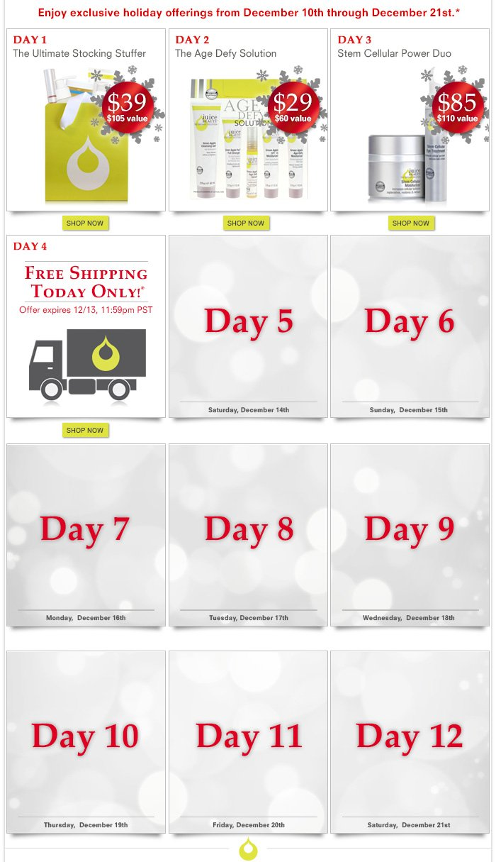 12 Days Of Beauty: Day 4 - Free Shipping - Today Only!