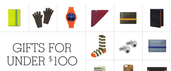 Gifts for under 100 dollars.