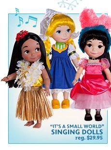 It's a Small World Singing Dolls reg. $29.95