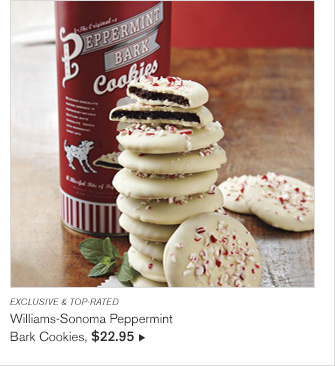 EXCLUSIVE & TOP-RATED - Williams-Sonoma Peppermint Bark Cookies, $22.95