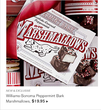 NEW & EXCLUSIVE - Williams-Sonoma Peppermint Bark Marshmallows, $19.95