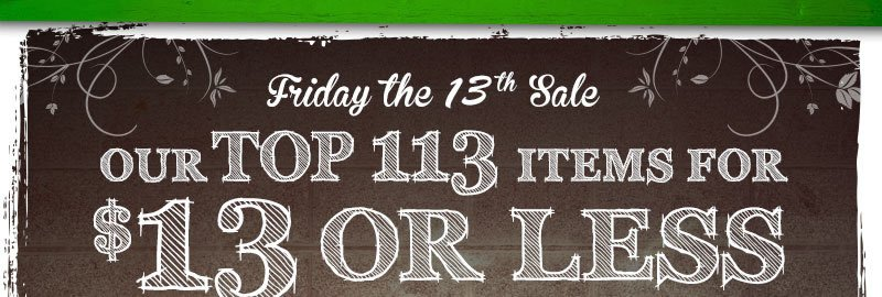 Our Top 113 Items