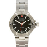 Wenger 79172 Women's Military Black Dial Steel Bracelet Dive Watch