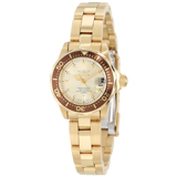 Invicta 12527 Women's Pro Mini Diver Gold Plated Stainless Steel Champagne Dial Dive Watch