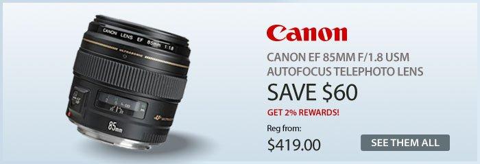 Adorama - Canon EF 85mm f/1.8 USM Autofocus Telephoto Lens