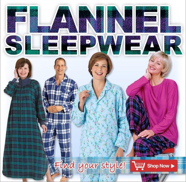 Flannel Sleepwear - Find your style! - Shop Now >>