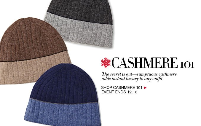Cashmere Accessories- Mens