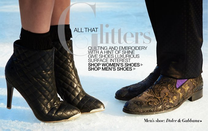 Shop Shoes For Women & Men: All That Glitters