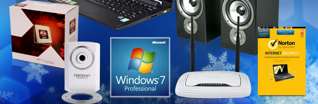 Speaker, CPU, webcam, Win7, Router, Norton
