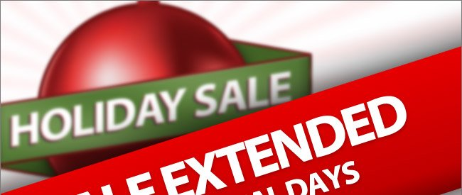 Holiday Sale Extended 3 More Days! Shop Now