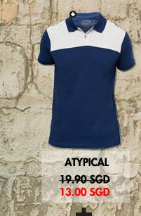 Atypical Polo with contrast panel