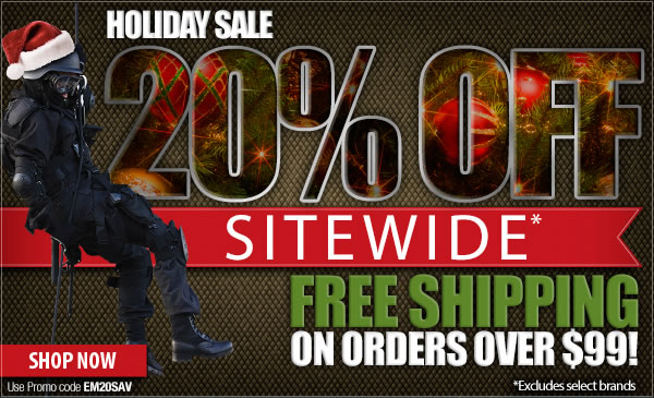 20 percent Off Sitewide + Free Shipping Over 99 dollars!