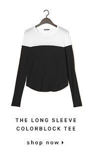 THE LONG SLEEVE COLORBLOCK TEE - shop now