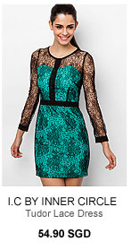 I.C BY INNER CIRCLE Tudor Lace Dress