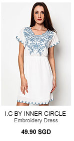 I.C BY INNER CIRCLE Gipsy Embroidery Dress