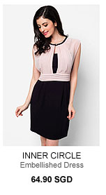 INNER CIRCLE Open Hole Embellished Dress