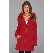 Calvin Klein Hooded Coat w/ Faux Fur Trim CW341051