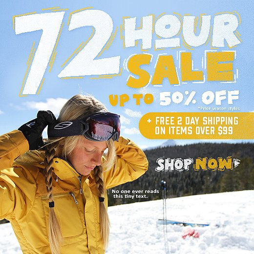72 Hour Sale - up to 50% off