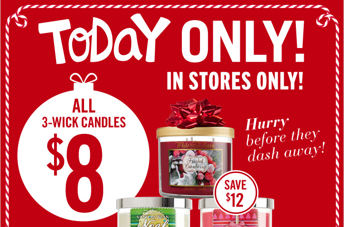 3-Wick Candles – $8