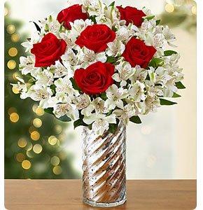 Glad Tidings Rose & Peruvian Lily Bouquet Shop Now