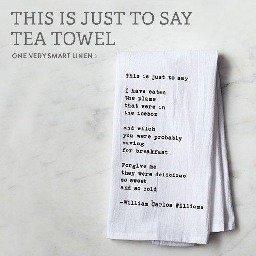 Poem Tea Towel