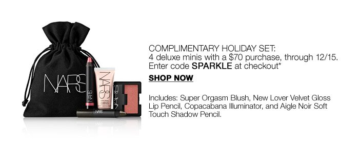 Complimentary Holiday set: 4 deluxe minis with a $70 purchase, through 12/15.