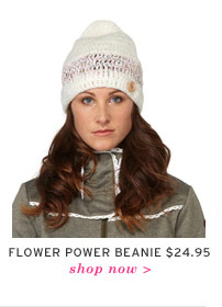 Flower Power Beanie $24.95 - Shop now