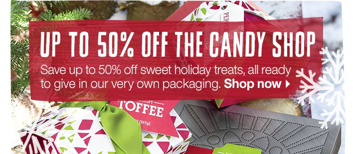 Up to 50% off the Candy Shop