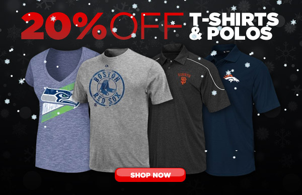 20% Off T-Shirts and Polos