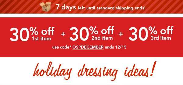 Shop Holiday Dressing IDeas!