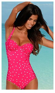 LASCANA Pink Spotty Underwired Swimsuit £49