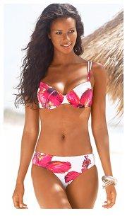 LASCANA White Floral Print Bikini £42