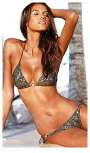 Jette Brown Print Triangle Bikini £45