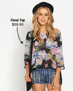 Floral Top $59.95