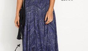 Hanky Hem Paisley Skirt $59.95