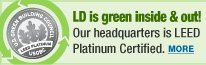 Our headquarters is LEED Platinum certified.