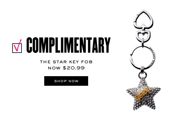 Complimentary. The star key FOB now 20.99 dollars. SHOP NOW.