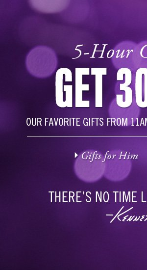 GET 30% OFF OUR FAVORITE GIFTS FROM 11AM-4PM EST TODAY ONLINE ONLY. // Gifts for Him