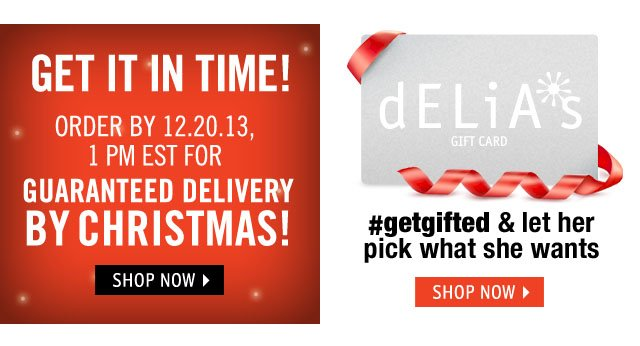 DELIVERY BY CHRISTMAS! order by 12.20.13