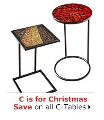 C is for Christmas Save on all C-Tables