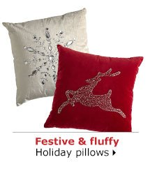Festive & fluffy Holiday pillows