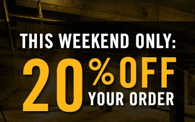 THIS WEEKEND ONLY: 20% OFF