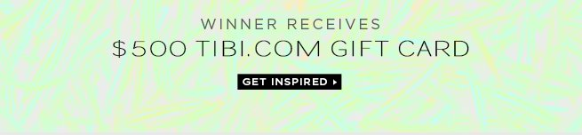 What Would You Buy with a $500 Gift Card from Tibi.com?