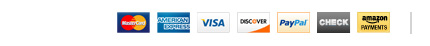 We accept most payment methods.