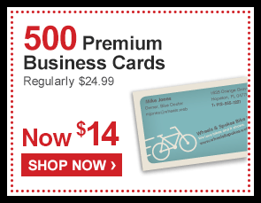 500 Premium Business Cards Regularly $24.99 Now $14 - Shop Now ›