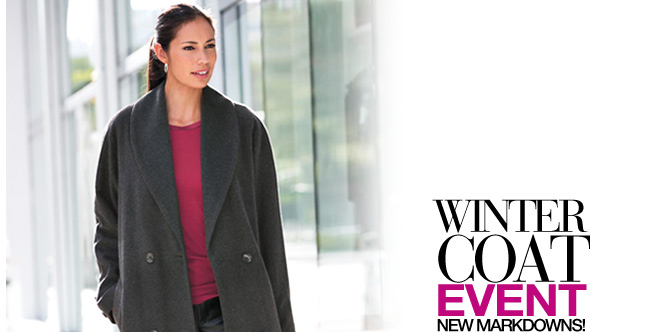 Winter Coat Event, New Markdowns! 30% to 50% off