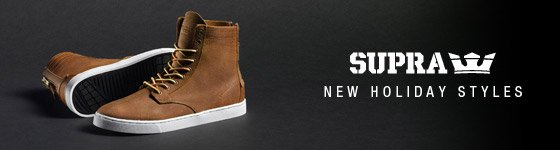 Supra: New Holiday Styles