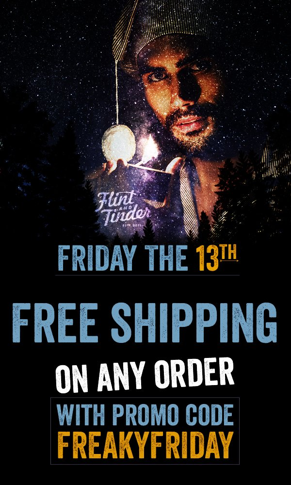 FREE SHIPPING on ANY ORDER - with promo code FREESHIPFRIDAY
